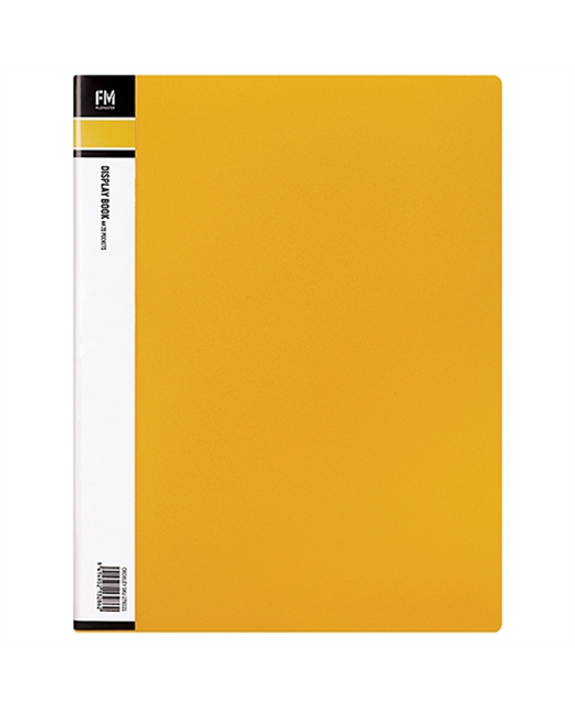FM DISPLAY BOOK A4 YELLOW 60 POCKET